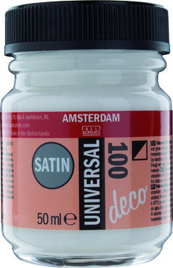 Amsterdam Deco Universal Satin 50 ml Flacon 100 Wit