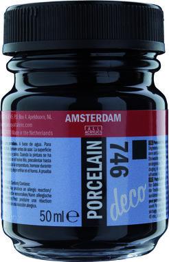 Amsterdam Deco Porcelain 50  ml Flacon 746 Zwart dekkend
