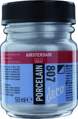 Amsterdam Deco Porcelain 50  ml Flacon 807 Zilver dekkend