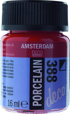 Amsterdam Deco Porcelain 16 ml Flacon 388 Helderrood dekkend
