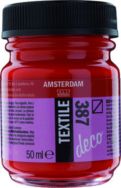 Amsterdam Deco Textiel 50 ml Flacon 387 Helderrood
