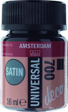 Amsterdam Deco Universal Satin 16 ml Flacon 700 Zwart