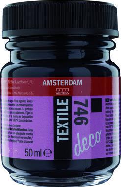 Amsterdam Deco Textiel 50 ml Flacon 746 Zwart dekkend