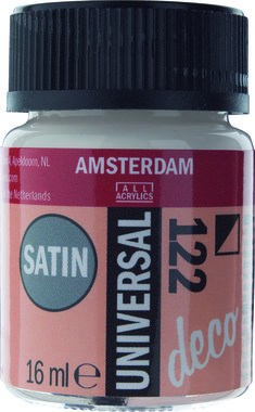 Amsterdam Deco Universal Satin 16 ml Flacon 122 Gebroken wit