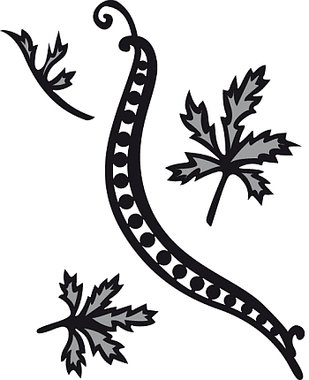 Marianne Design Craftable CR1243 Tiny`s swirls & leaves 1