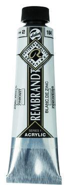 Rembrandt Acrylverf tube 40 ml nr. 104 Zinkwit