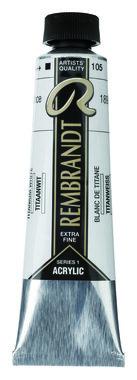 Rembrandt Acrylverf tube 40 ml nr. 105 Titaanwit