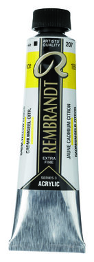 Rembrandt Acrylverf tube 40 ml nr. 207 admiumgeel citroen