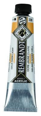 Rembrandt Acrylverf tube 40 ml nr. 228 Gele oker licht