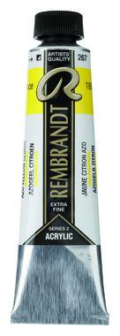 Rembrandt Acrylverf tube 40 ml nr. 267 Azogeel citroen