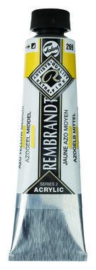 Rembrandt Acrylverf tube 40 ml nr. 269 Azogeel middel