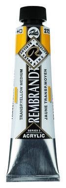 Rembrandt Acrylverf tube 40 ml nr. 272 Transparantgeel middel