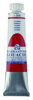 Gouache Plakkaatverf Extra Fijn tube 20 ml 318 Karmijn