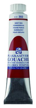Gouache Plakkaatverf Extra Fijn tube 20 ml 302 Donkerrood