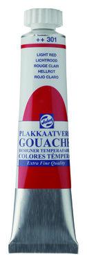 Gouache Plakkaatverf Extra Fijn tube 20 ml 301 Lichtrood