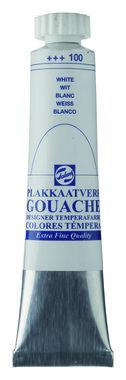 Gouache Plakkaatverf Extra Fijn tube 20 ml 100 Wit