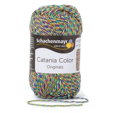 Schachenmayr Catania Color 224 Groen/Geel/Bruin Spikkel Color