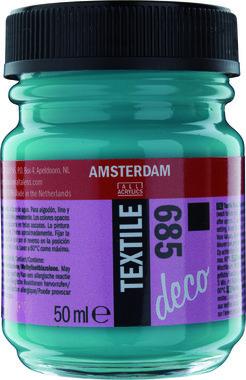 Amsterdam Deco Textiel 50 ml Flacon 685 Turkoois dekkend
