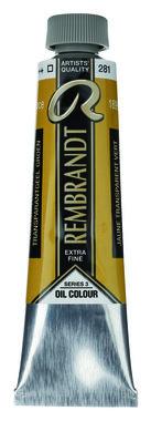 Rembrandt Olieverf 40 ml nr.  281 TransparantGeel Groen