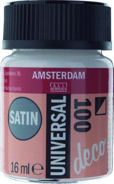 Amsterdam Deco Universal Satin 16 ml Flacon 100 Wit