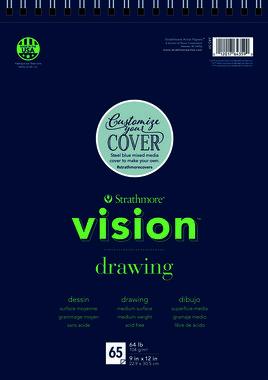 200 Strathmore Vision Schets- papier 23x30,5cm