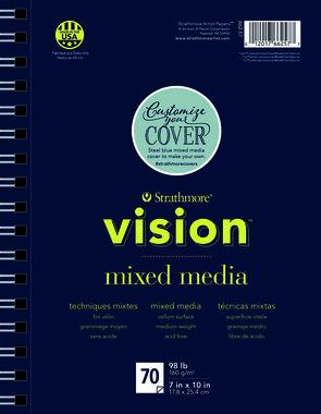 200 Strathmore Vision Mixed media papier 18x25,4cm
