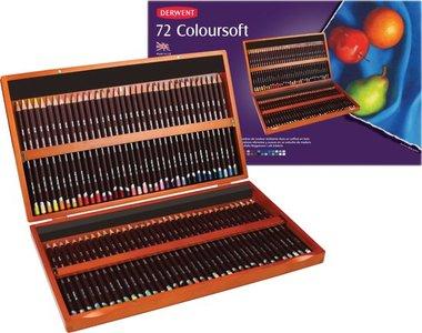 Derwent Coloursoft houten kist 72 stuks