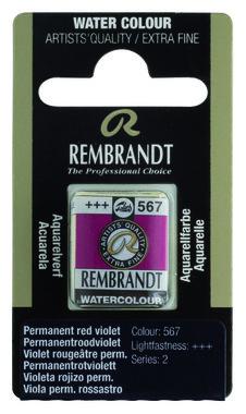 Rembrandt Aquarelverf napje nr. 567 VioletRougePermanent