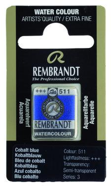 Rembrandt Aquarelverf napje nr. 511 CobaltBlauw
