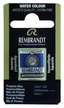 Rembrandt Aquarelverf napje nr. 508 PrussischBlauw