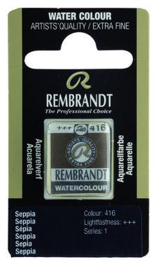 Rembrandt Aquarelverf napje nr. 416 Sepia