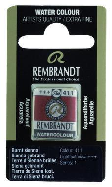 Rembrandt Aquarelverf napje nr. 411 BurntSienna
