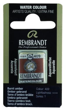 Rembrandt Aquarelverf napje nr. 409 BurntUmber