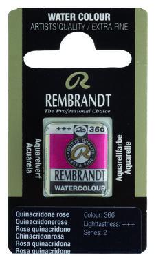 Rembrandt Aquarelverf napje nr. 366 QuinacrodneRose