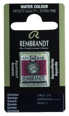 Rembrandt Aquarelverf napje nr. 318 Karmijn