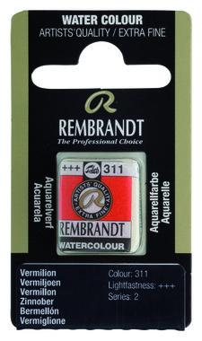 Rembrandt Aquarelverf napje nr. 311 Vermiljoen