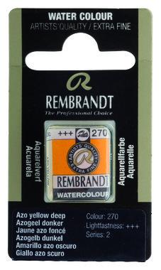 Rembrandt Aquarelverf napje nr. 270 AzoYellowDeep