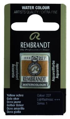 Rembrandt Aquarelverf napje nr. 227 YellowOker