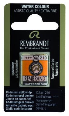 Rembrandt Aquarelverf napje nr. 210 CadmiumYellowDeep