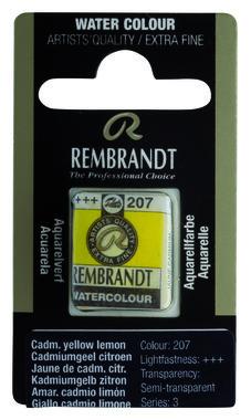Rembrandt Aquarelverf napje nr. 207 CadmiumYellowCitroen