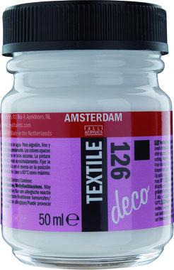 Amsterdam Deco Textile 50 ml Flacon 126 Wit Dekkend