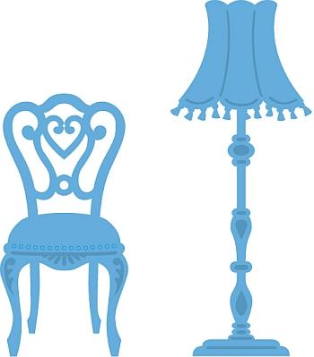 Marianne Design Creatable LR0267 Stoel met lamp