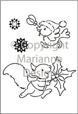 Marianne Design Clearstempel EC0136 Snel naar huis