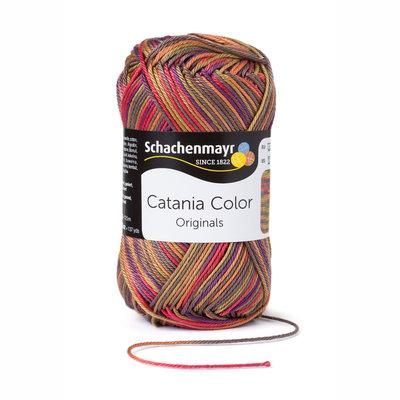 Schachenmayr Catania Color 209 Bruin/Rood Color
