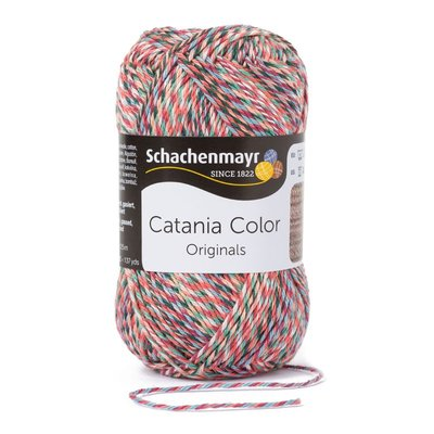 Schachenmayr Catania Color 223 Bruin/Rood spikkel color