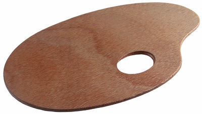 Talens Palet hout ovaal 25 x 35 cm