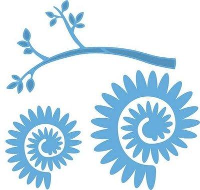 MD Creatables LR0257 Tak met bloem 2