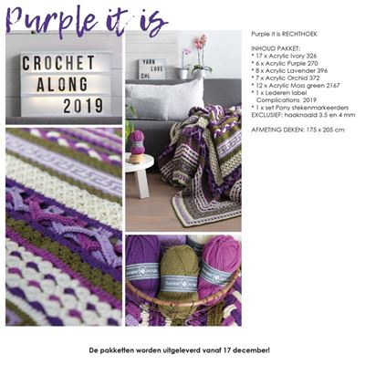 CAL 2019 Complications rechthoek Purple pakket